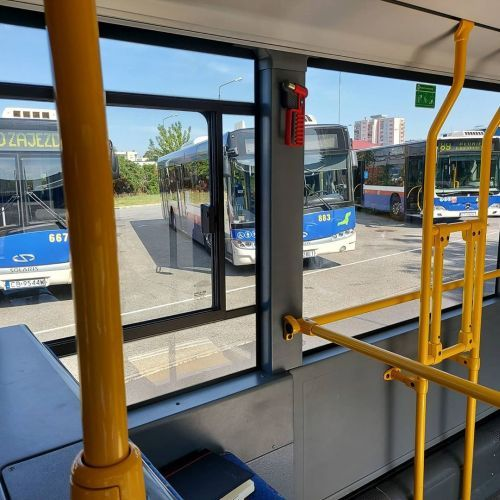 Interior de autobús urbano