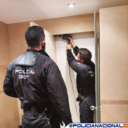 Policía Nacional trabajando