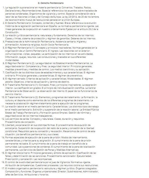 Oposiciones penitenciaria 2022 temario parte 2 a