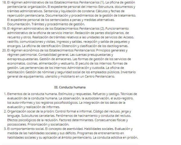 Oposiciones penitenciaria 2022 temario parte 2 b