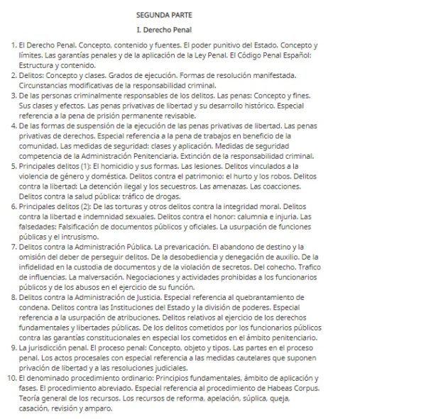 Oposiciones penitenciaria 2022 temario parte 2