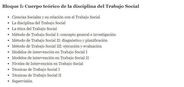 Oposiciones trabajo social 2022 temario bloque 1