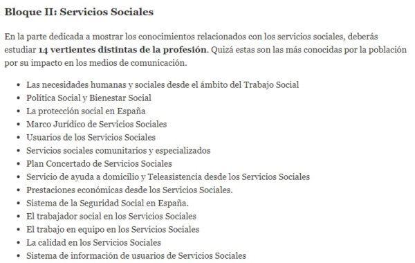 Oposiciones trabajo social 2022 temario bloque 2