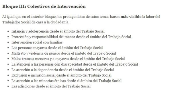 Oposiciones trabajo social 2022 temario bloque 3