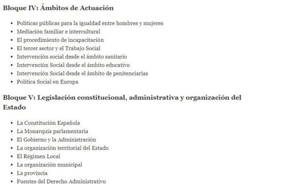 Oposiciones trabajo social 2022 temario bloque 4 5