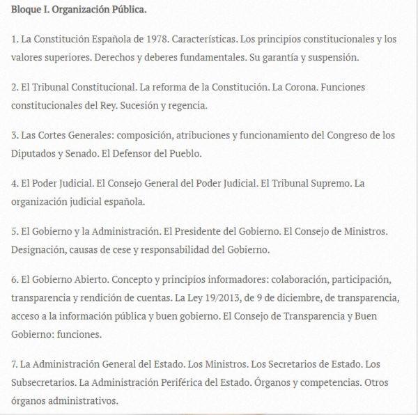 Oposiciones auxiliar administrativo 2022 temario 1