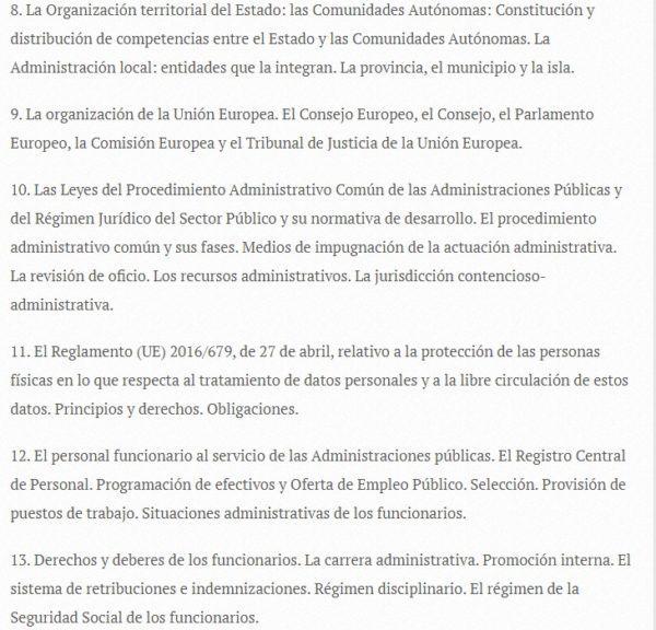 Oposiciones auxiliar administrativo 2022 temario 2