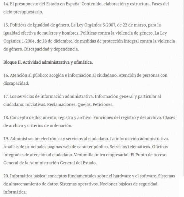 Oposiciones auxiliar administrativo 2022 temario 3