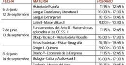 Selectividad Septiembre 2018 Aragón