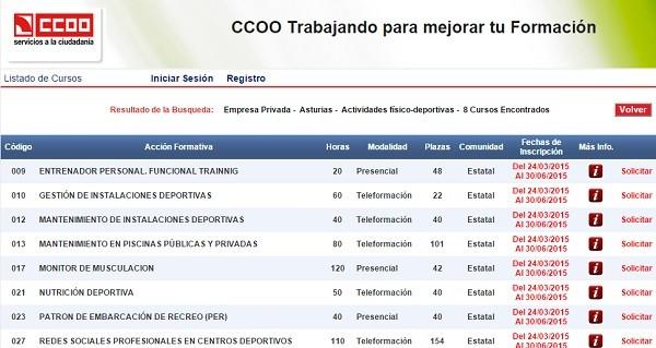 cursos ccoo asturias