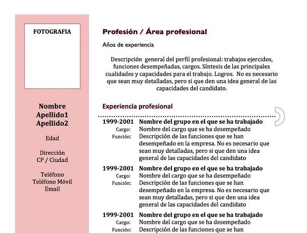las-plantillas-curriculum-cronologico
