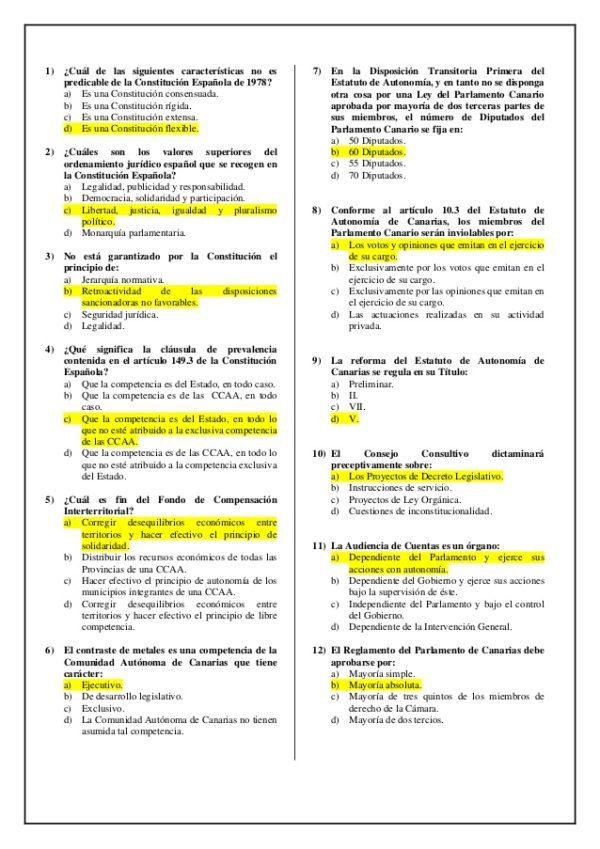 Cómo Hacer El Test De La Constitución Española Para Aprobar